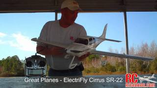 Great Planes - ElectriFly Cirrus SR-22  -- Maiden Flight 1-22-2011