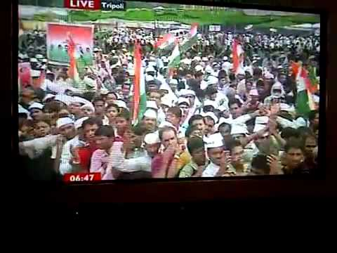 "Libya / Incredible media lies - BBC shows ""Green Square"" in INDIA, 24 August 2011"