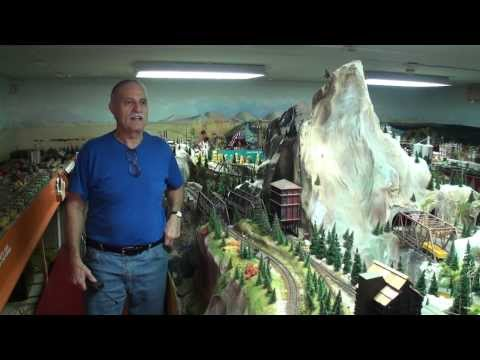 Greatest Private Model Railroad H.O. Train Layout Ever?  John Muccianti works 30+ years on HO layout