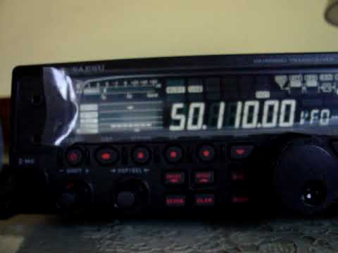 MOV01420 03-11-2009 LU8DIO CE3RR 50.110 YAESU FT-450  HAM HAMRADIO SIX METER 50 MHZ HAM-RADIO CA3SOC