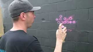 Spray Paint Techniques: Dots...