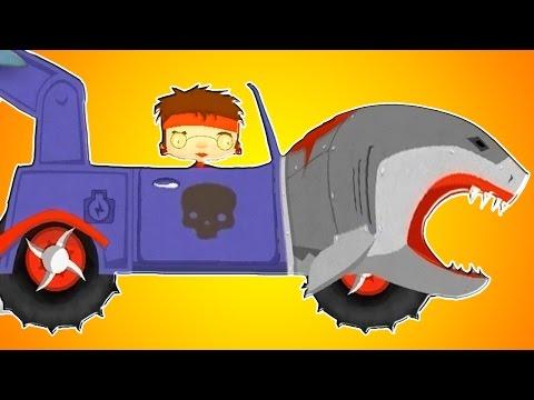 АКУЛА МАШИНКА меняет цвет в автомастерской. Про машины для детей. Машинки для малышей.