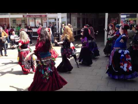 North Wind Tribal Bellydancers at Keighley Olympic Torch celebration