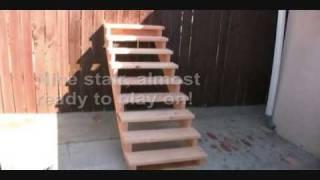 como hacer una escalera de madera 5 hacer bricolaje es. Black Bedroom Furniture Sets. Home Design Ideas