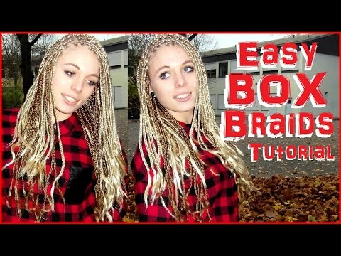 How i / to make Poetic Justice Blonde Beyoncé inspired Box Braids with feather ends DIY Tutorial