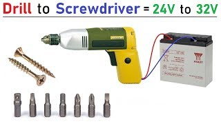 Reuse a 220V 300 Watts Drill Machine & Convert it to 24 V DC Motor Powered Electric Screwdriver