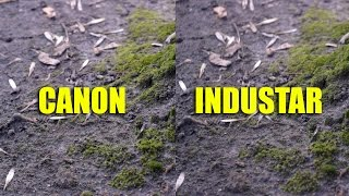 Canon 50mm 1.8 II vs. Industar 50mm 3.5 Video test