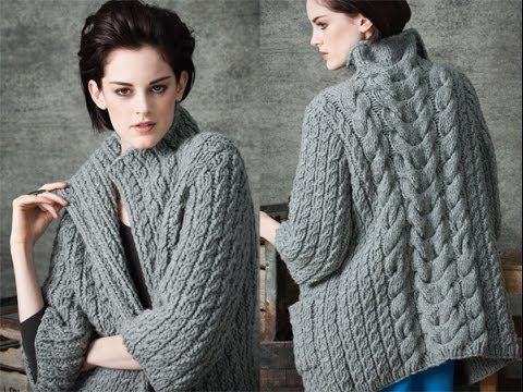 Vogue Knitting Patterns For Sweaters : #1 Long Cardigan, Vogue Knitting Early Fall 2010 - YouTube