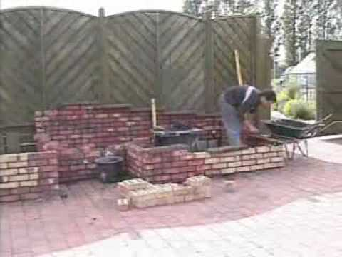 How to build fish pond with a brick construction youtube for Brick fish pond