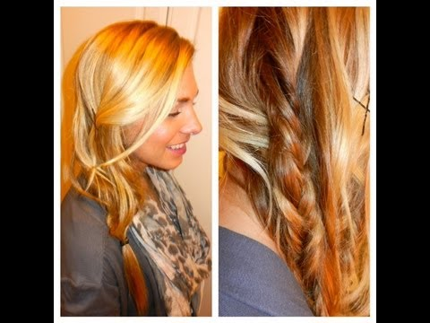 Blake Lively Inspired Messy Side Fishtail Braid