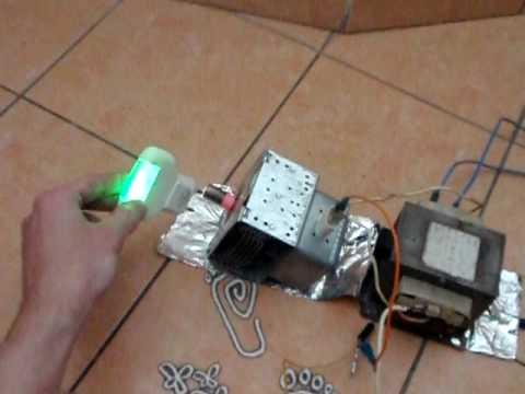 Testování magnetronu při 12W / Magnetron at 12W - YouTube
