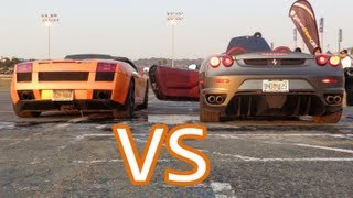 Lamborghini Gallardo Spyder Revs And Interior VS Ferrari F430 Spyder Revs And Interior