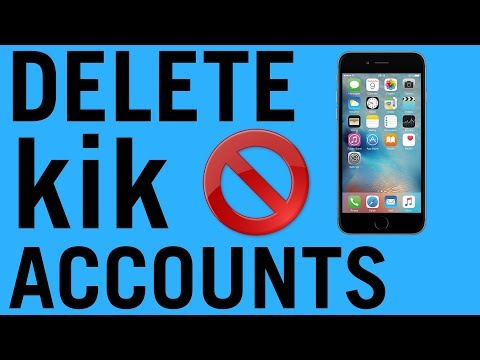How to Delete kik Accounts 2018