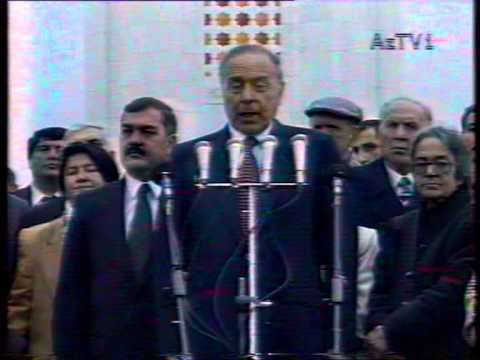 Ali Evsen with National Leader of Azerbaijan Heydar Aliyev in openning ceremony of mausoleum. PART-2