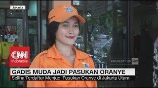 Ini Sosok Wanita Muda Pasukan Oranye yang Viral