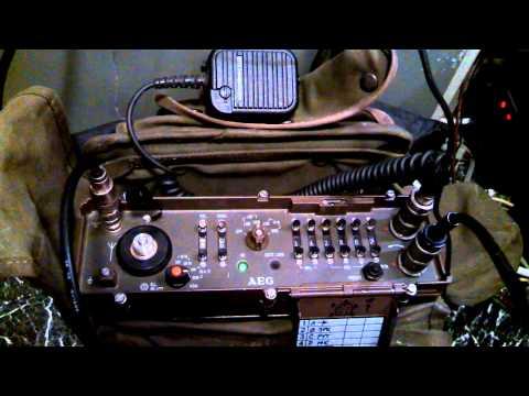 Turkey on the Telefunken AEG6861 Manpack radio!