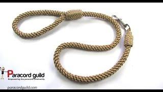 Crown knot paracord dog leash