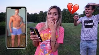 I Put My EX BOYFRIEND As My Background PRANK! (backfires)