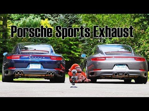 Porsche Sports Exhaust PSE vs No Sports Exhaust 911 991.2