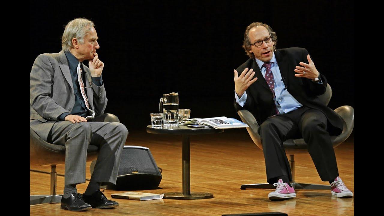 Maandagavond in Antwerpen: Dawkins en Krauss spreken met elkaar. 1