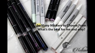 Alcohol Marker Part 3: The difference between copic, nuvo, spectrum noir markers and more!