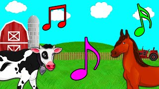 Nursery Rhyme Old MacDonald Had a Farm Song Sing Along Tune Toddlers Kids Babies