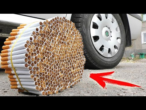 EXPERIMENT: CAR VS 1000 CIGARETTES