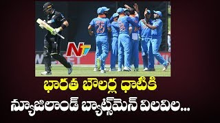Indian Bowl New Zealand Out for 157 | Kuldeep and Shami Shines Kiwis All Out | NTV