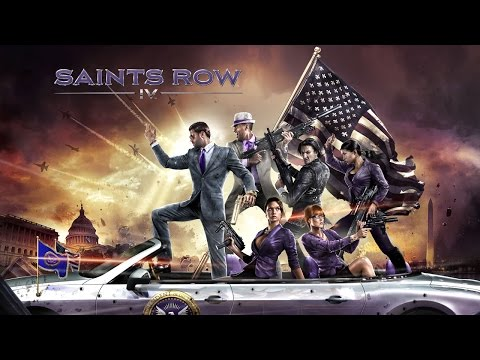 Saints Row 4 - Superman protegendo um robô - Gameplay - Playstation 3