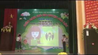 Cẩm Ly & Việt Khoa thuyết trình về xâm hại trẻ em năm 2017 - THCS Toàn Thắng - Gia Lộc - Hải Dương.