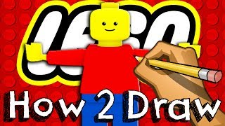 How To Draw A Lego MiniFigure | Drawing Coloring Learning | JUNIORS TOONS