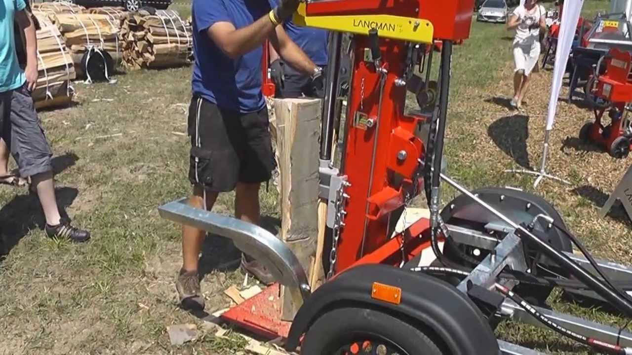 Holzspalter Mit Fahrgestell Mit 80 Km/h Fahrgestell