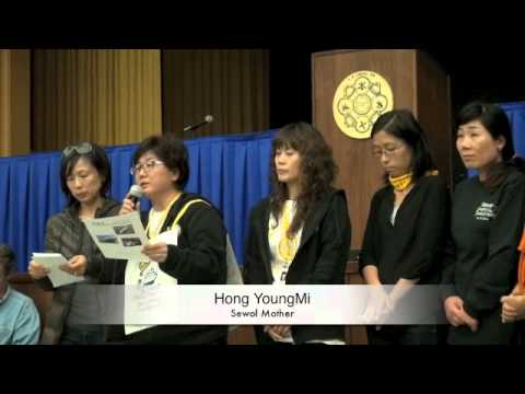 Korea Sewol Mothers Attend And Speak At San Francisco Labor Council