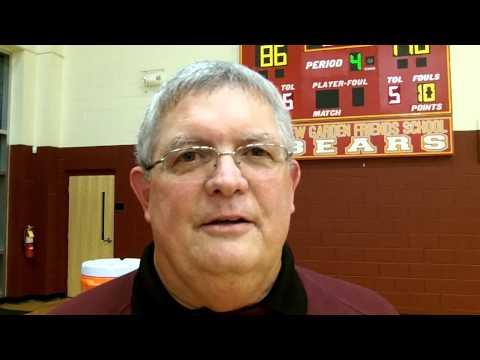 Interview with Coach David Secor New Garden Friends School Boys Basketball - 01/16/2013