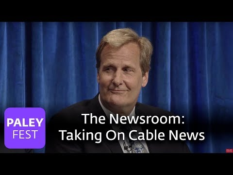 The Newsroom - Aaron Sorkin and Jeff Daniels Talk About Taking On Cable News