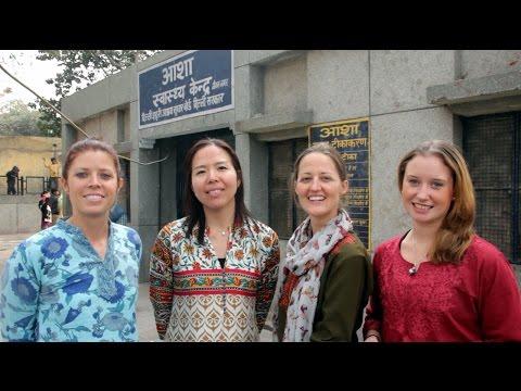 Post Graduate students from Monash University, Australia at Jeevan Nagar slum colony