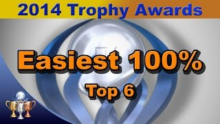 2014 Trophy Awards - Top 6 Easiest 100% Games of 2014