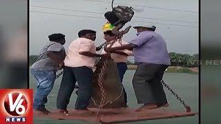 Caught On Cam: 4 People Drowned During Ganesh Immersion In Jammikunta | Karimnagar