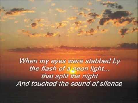 Simon & Garfunkel - The Sound of Silence + Lyrics