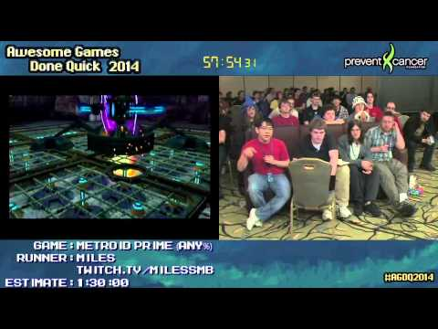 Metroid Prime :: Speed Run in 1:24:31 by Miles #AGDQ 2014