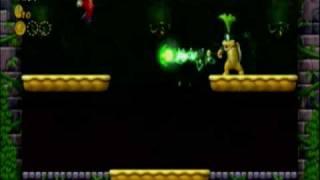 New Supeer Mario Bros. Wii Iggy Koopa Battle (Tower)