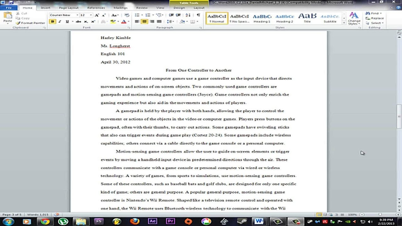 how to do mla format in word