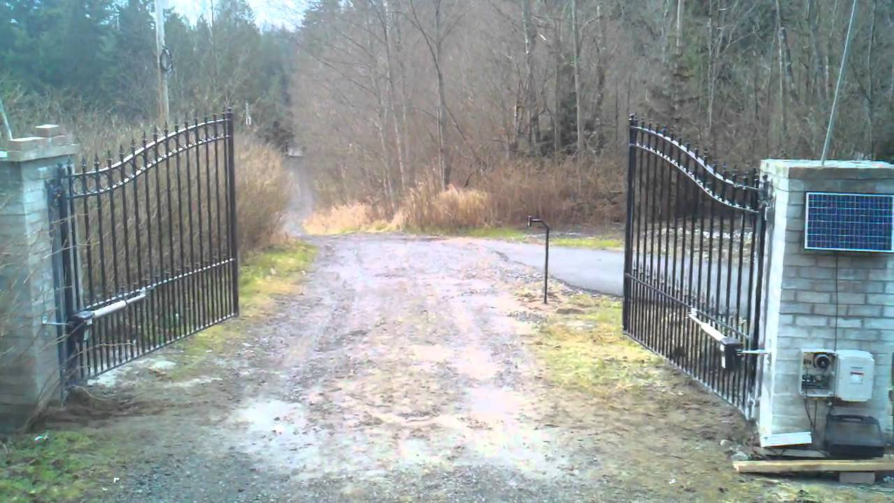 Driveway gates and dual swing gate opener aleko as ac
