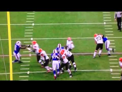 Johnny Manziel's First Career Touchdown - Browns vs Bills - November 30, 2014