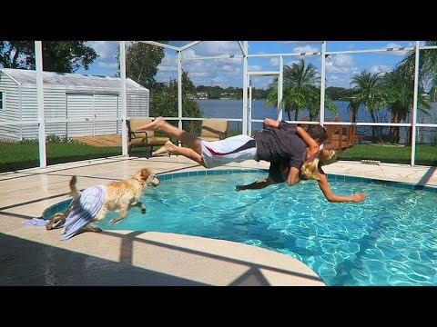 Throwing my Girlfriend in the Pool! (Revenge Prank)