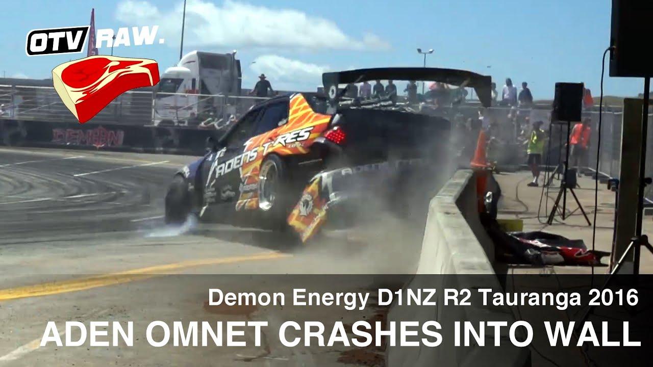RAW: Aden Oment 2JZ Toyota Altezza CRASH - D1NZ Drifting R2 Tauranga 2016