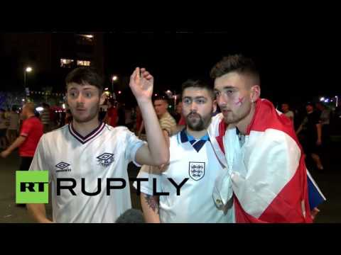 France: English and Russian fans sedately leave stadium despite crowd trouble