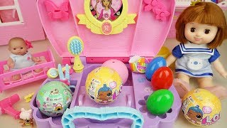 Baby doll beauty box and LoL surprise eggs toys play