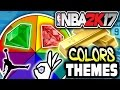SPIN THE WHEEL OF CARD COLORS & THEMES! NBA 2K17 SQUAD BUILDER -