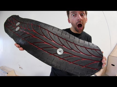 CAR TIRE GRIP TAPE SKATEBOARD | YOU MAKE IT WE SKATE IT EP 142